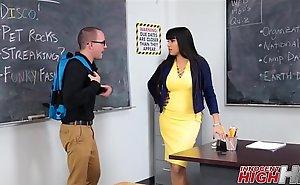Hot Teacher Fucks Nerdy Misdirect Pupil