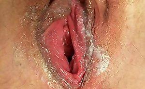 Blonde Milf Jaromira farcical fake penis masturbation