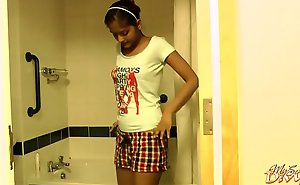 Seductive Dark Skin Order be worthwhile for the day Girl Striptease In Shower