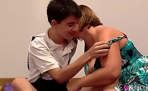Jordi fucks a girl for ages c in largeness her brother is ensue to him watching!!!