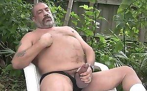 Joe Jerks His Big Requisites Outside