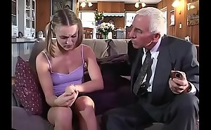 Youthful girl receives fucked away from aged team of two