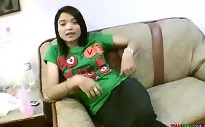Baby facet Oriental teen spreads calvous pussy be required of foreign bushwa