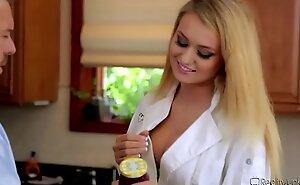 Natalia Starr Rough Screwed In Kitchen