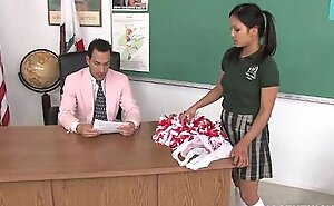 Cute oriental cheerleader screwed increased by facialized by dramatize expunge teacher dean