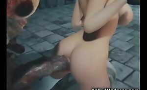 3D Busty Girl Penniless by Giant Being