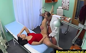 Doctor twat fucks nurse and patient anent office