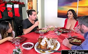 Horny light-hearted progenitrix ava addams copulates her daughter's boyfriends on christmas