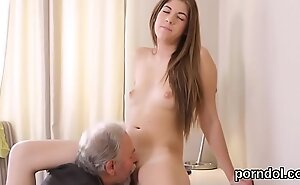 Superb bookworm gets seduced and drilled apart from their way elderly instructor