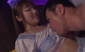 Elegant Japanese inclusive takes care of guy's pecker added to makes him cum