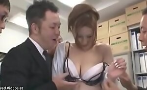 Japanese sexy copier gangbanged in office