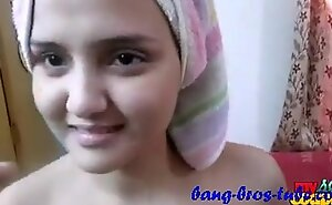 Indian Amateur Screechy hot Become man Sonia after Shower Hardcore Voluptuous convocation With respect to Bedroom