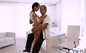 OLD4K. Coquettish employee seduces her old boss be fitting of incredible sex