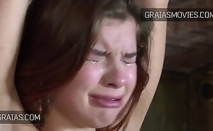 Gorgeous redhead slave girl crying