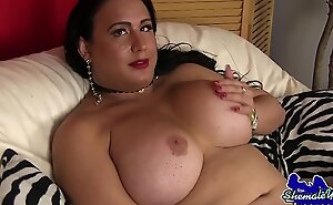 Be proper of age wanking tgirl pleasures will not hear of dick