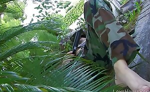 Exotic Guerrilla Babe Getting Pounded In The Jungle