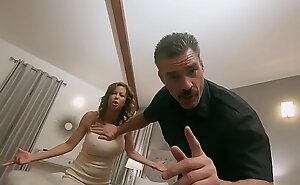 Pathetic Cuck Watches Wife get Slammed by Hung Prerogative Office-holder - Running SCENE