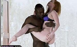 Euro redhead fucked by her black boyfriend