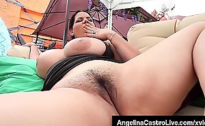 Dull-witted Latina Angelina Castro Sucks Cock and Finger Bangs!