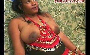 黒檀のインドの雌犬