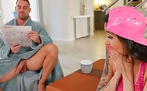 Oriental Step Daughter Brenna Sparks Sucks Her Daddy's Detect in Middle be useful to The Night