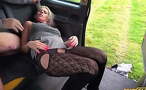Rebellious blonde MILF acquires fucked by horny taxi driver