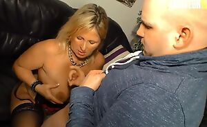 Amateur German mom with natural boobs gets screwed balls deep