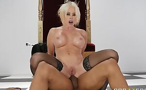 Orbit MILF moorland stockings gets drilled in the ass