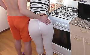 Mom coupled with son. Anal sexual intercourse in dramatize expunge kitchen