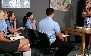 Sexual connection Instructor Strips Male Student