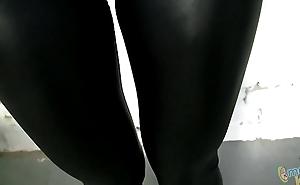 Horny Hawt Girl In Malignant Spandex Cloudless Tight Leggings