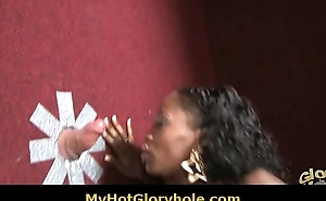 Hot horny black babe sucking load of shit scan a gloryhole 4