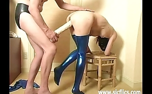 Monster sex tool fucked submissive following