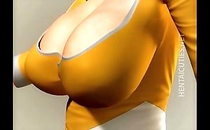 Redhead 3D hentai hoe gives spoken sex