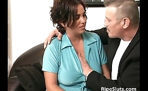 Horny pitch-black whisker German slut